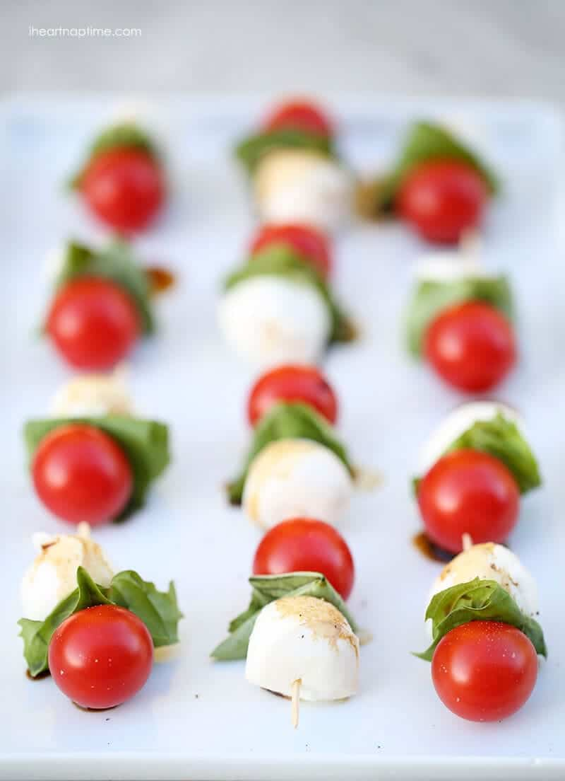 Caprese kabobs i heart nap time for No cook appetizers for thanksgiving