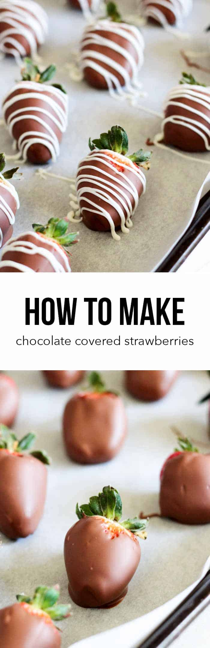 Easy Chocolate Covered Strawberries -the perfect dessert for Valentine's Day!