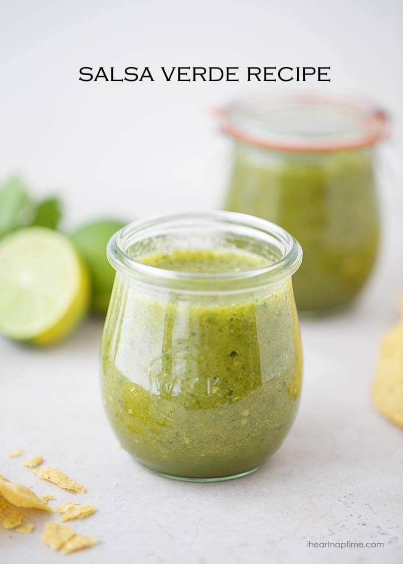 Easy salsa verde recipe on I Heart Naptime
