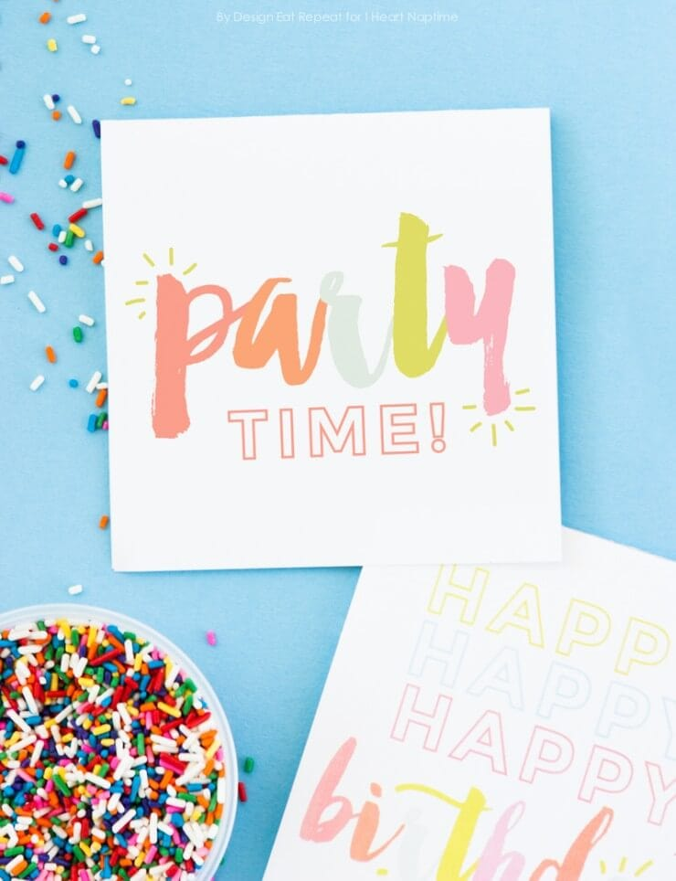 Adorable Free Printable Birthday Cards I Heart Naptime