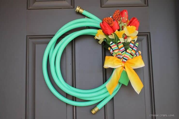 Spring Door Wreath Ideas Part - 38: Top 50 DIY Spring Wreaths On Iheartnaptime.com -so Many Cute Ideas!