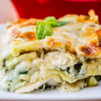 White Chicken Lasagna with Pesto
