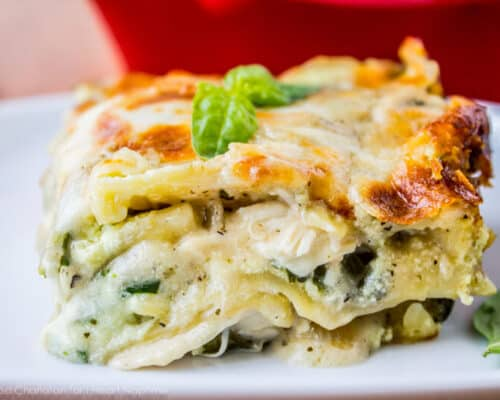 White Chicken Lasagna with Pesto
