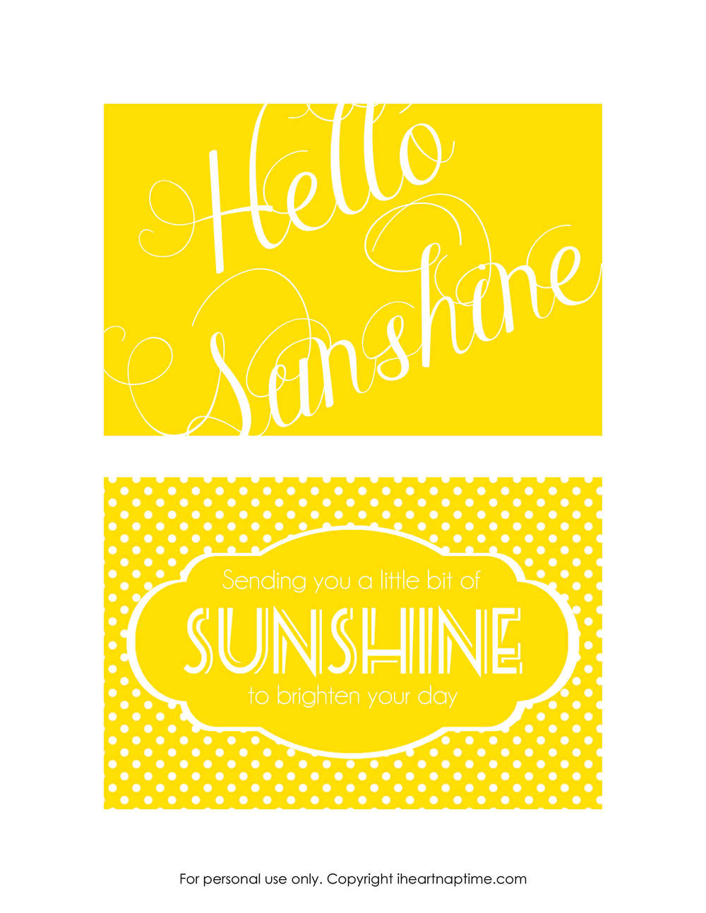 Send A Box Of Sunshine Free Printables