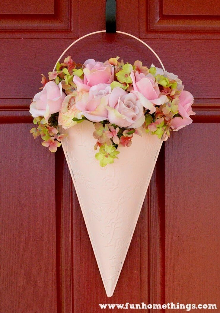 Top 50 diy spring wreaths i heart nap time for How to make door wreaths for spring