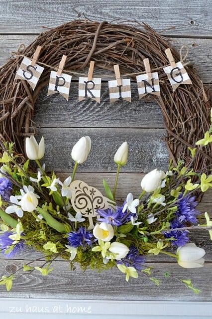 top 50 diy spring wreaths on iheartnaptimecom so many cute ideas - Spring Wreath Ideas