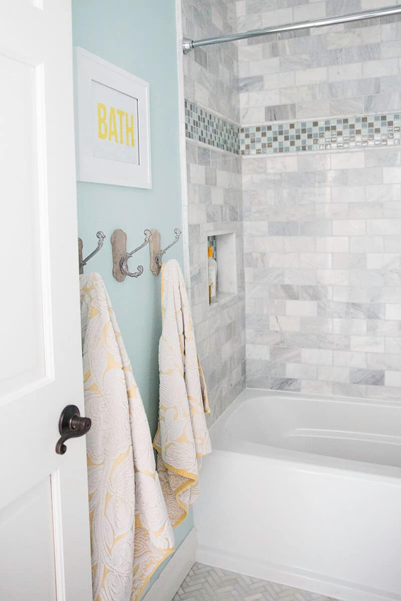 Bathroom makeover free printable i heart nap time for Granite and tile bathroom ideas