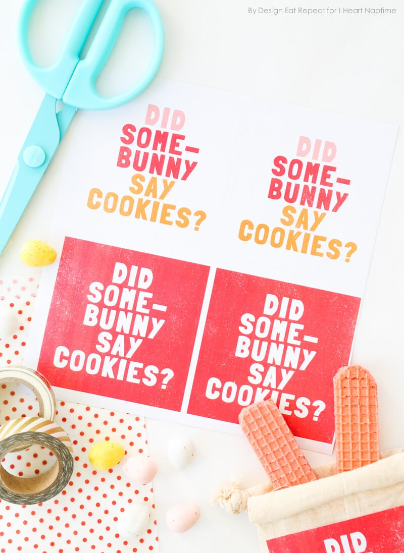 Easter Bunny Printable Party Favor Labels by Design Eat Repeat for I Heart Naptime