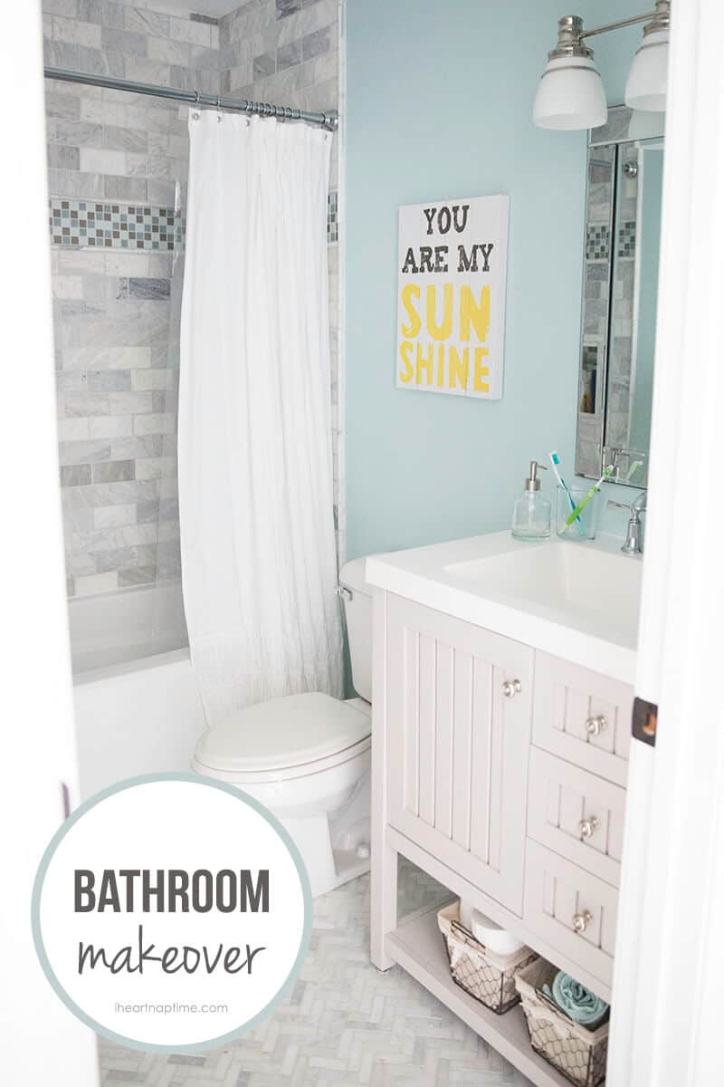 Bathroom makeover free printable i heart nap time for Children s bathroom designs