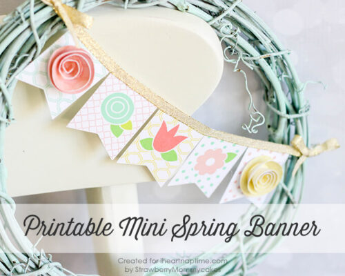 Mini Spring Banner Printable