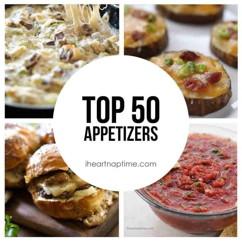 Top 50 appetizers recipes i heart nap time top 50 appetizers on iheartnaptime azing list of recipes forumfinder Images