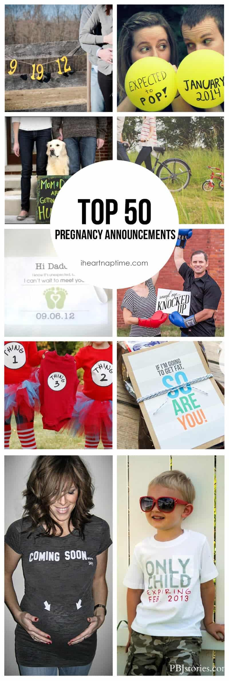 50 Creative Ways to Announce youre Pregnant I Heart Nap Time – Photo Baby Announcement Ideas