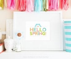 Free Printable Spring Wall Art