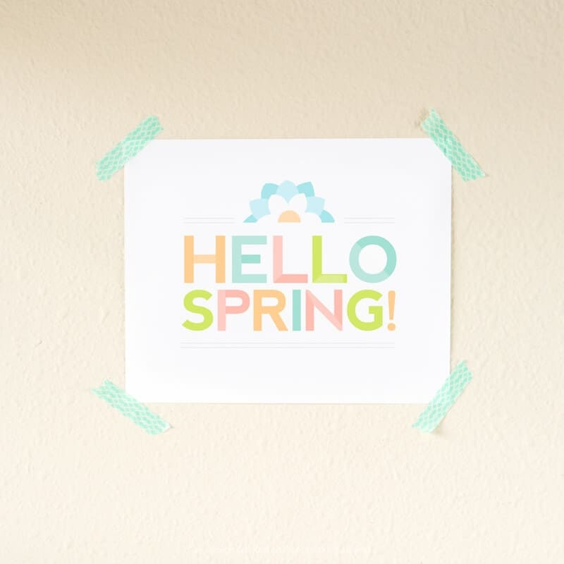 Free Printable Spring Wall Art by Design Eat Repeat for I Heart Naptime