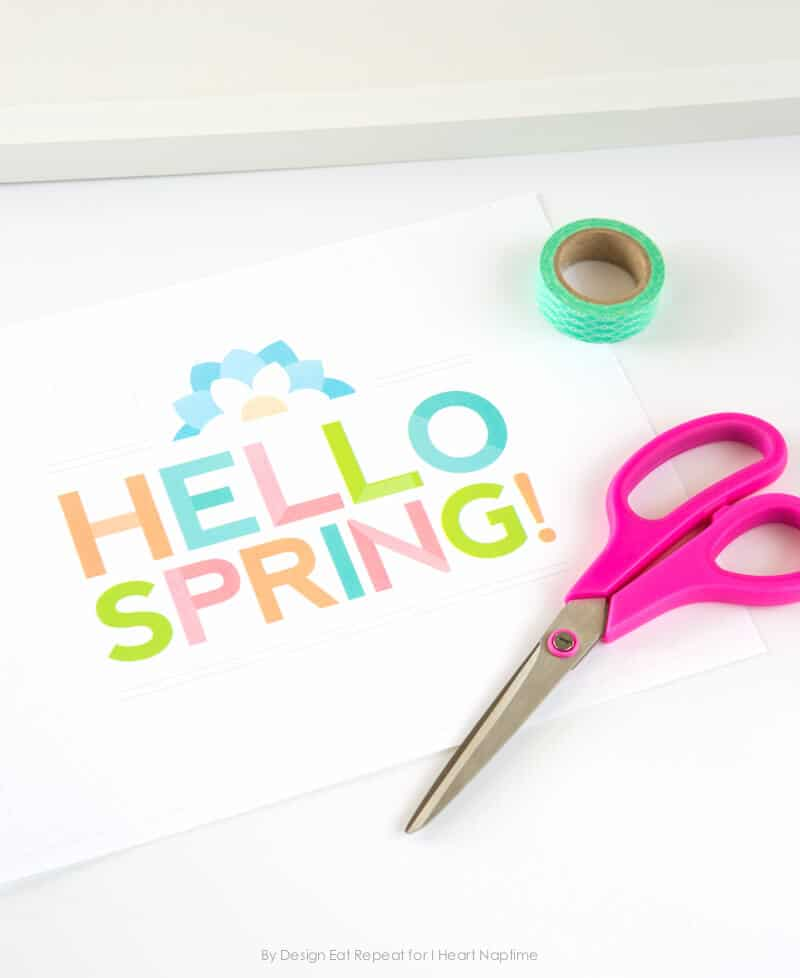 Free Printable Spring Wall Art by Design Eat Repeat