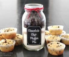 chocolate chip muffin jars
