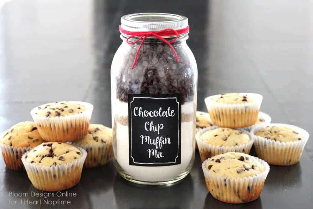 Chocolate Chip Muffin Mason Jars With Printable - I Heart Nap Time