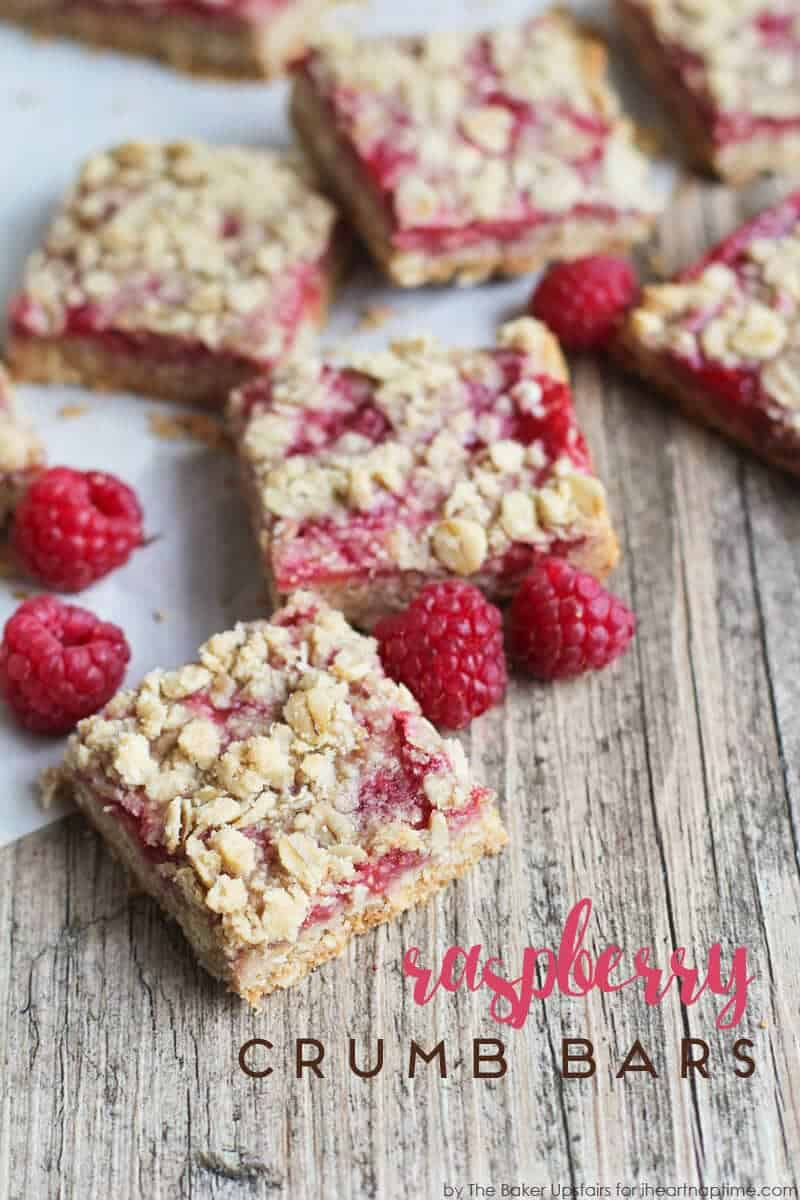 Raspberry Crumb Bars by Alicia of The Baker Upstairs for I Heart ...