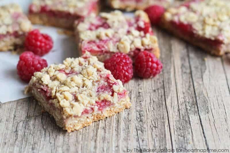 Raspberry Crumb Bars - I Heart Nap Time