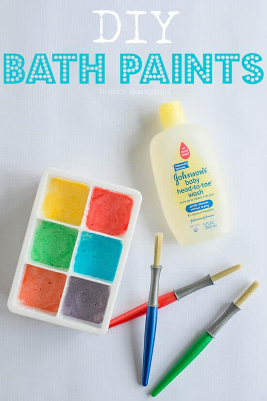 Charming Diy Kids Craft Ideas Part - 14: Easy Bath Paints For Kids