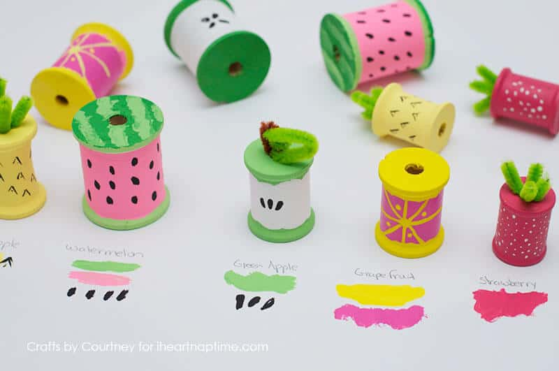 Fun fruit with thread spools i heart nap time for Fun blog ideas