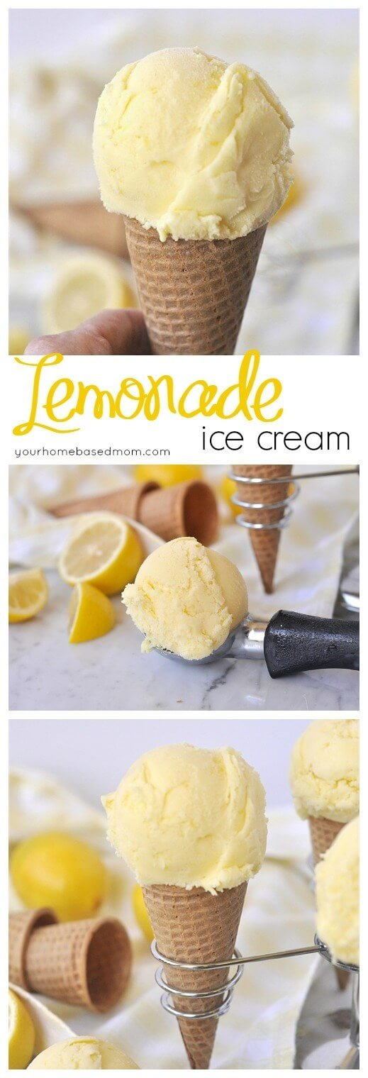 Lemonade Ice Cream from Your Homebased Mom for iheartnaptime.com