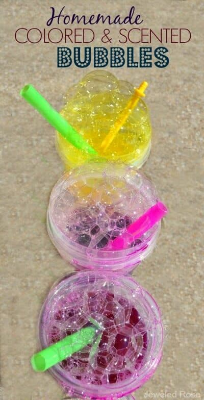 easy diy scented bubbles for kids