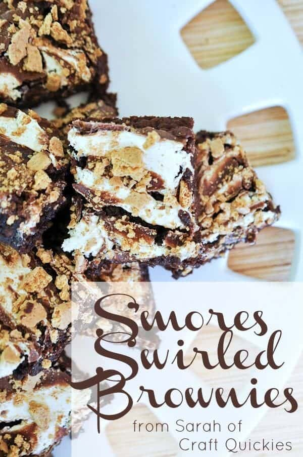 Smores-Swirled-Brownies-from-Sarah-of-Craft-Quickies