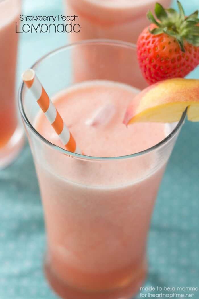 Strawberry Peach Lemonade