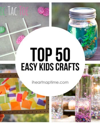 collage of kids crafts