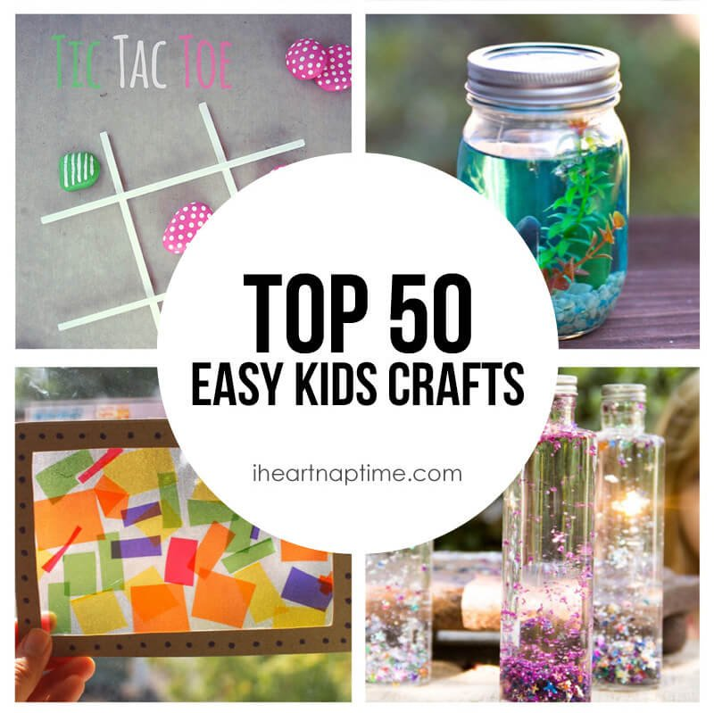 50 fun easy kids crafts i heart nap time for Cool fun easy crafts