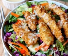 AppleBees Oriental Chicken Salad Copycat on iheartnaptime.net