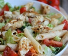 Chicken Caesar Pasta Salad on iheartnaptime.net