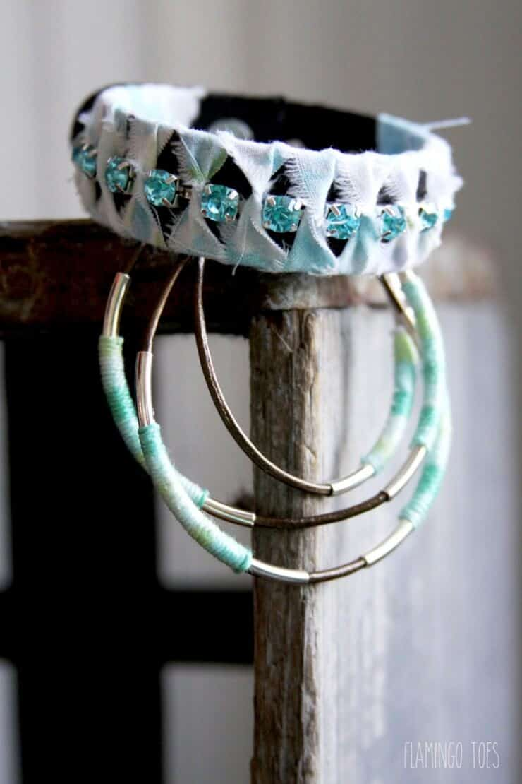 Thread and Leather Wrap Bracelet from Flamingo Toes for iheartnaptime.com