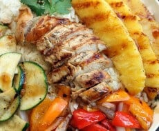 Grilled Hawaiian Teriyaki Chicken Bowls on iheartnaptime.net