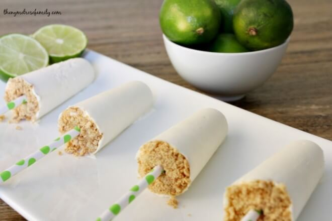 Lime Cheesecake Popsicles from The Melrose Family for iheartnaptime.com