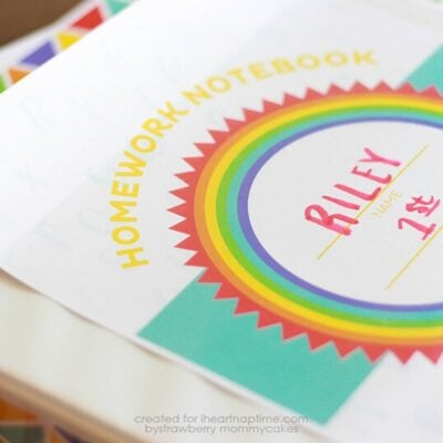 Keep your kids' homework organized with this FREE Printable Homework Binder Cover!