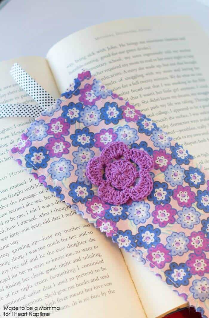 Fabric Bookmark on iheartnaptime.com