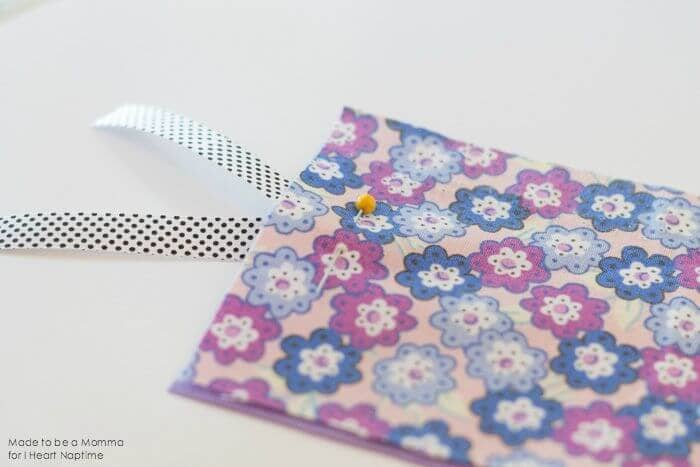 Fabric Bookmark Pin on iheartnaptime.com