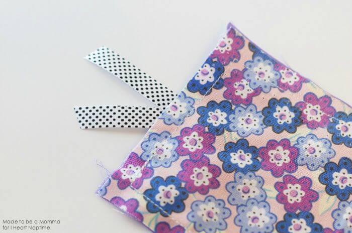 Fabric Bookmark Sewn Together on iheartnaptime.com