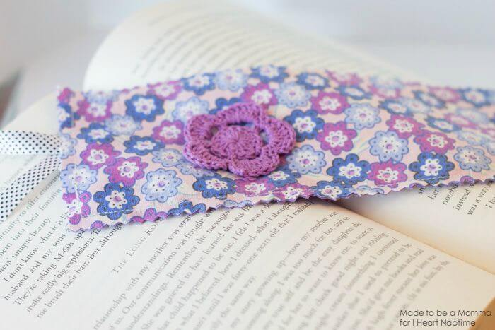 Fabric Bookmark with Embellishments