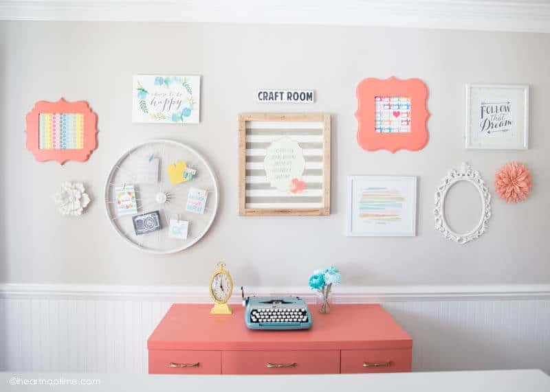 DIY chalk paint desk makeover on iheartnaptime.com