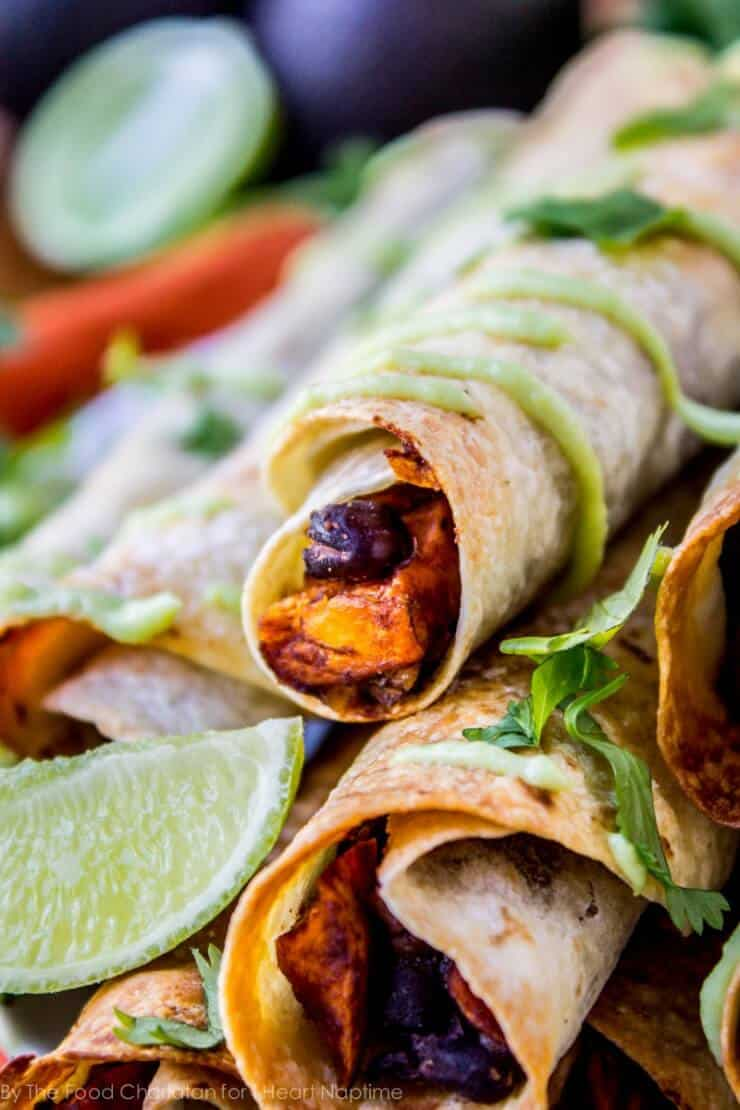 Black bean taquitos + 25 Delicious Sheet Pan Dinner Recipes that will make dinnertime a dream with easy prep work and less dishes!