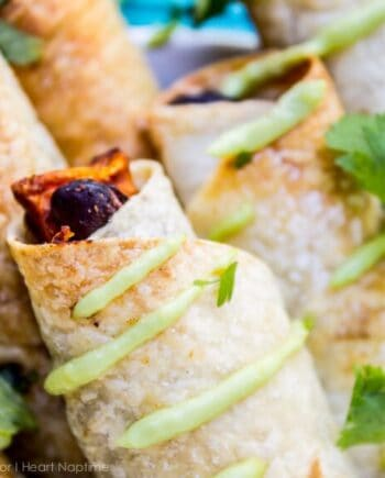 Black Bean and Sweet Potato Taquitos