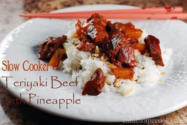 Slow Cooker Teriyaki Beef with Pineapple