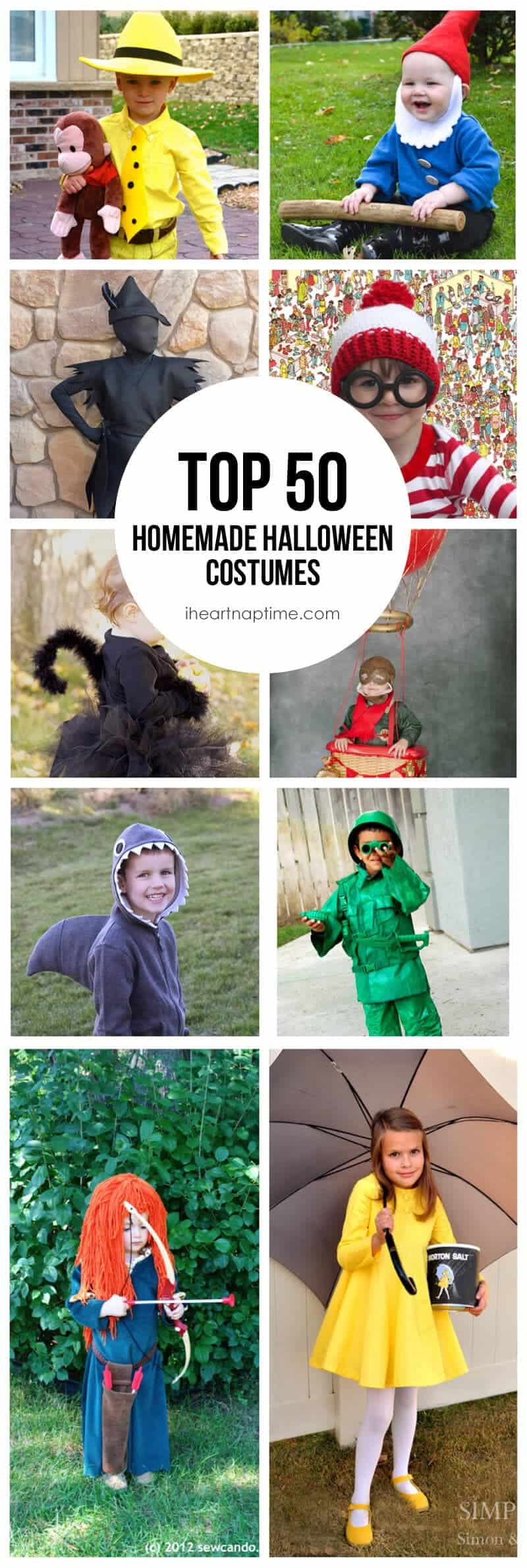 Top 50 Homemade Costumes  sc 1 st  I Heart Nap Time & 50 Homemade Halloween Costumes - I Heart Nap Time