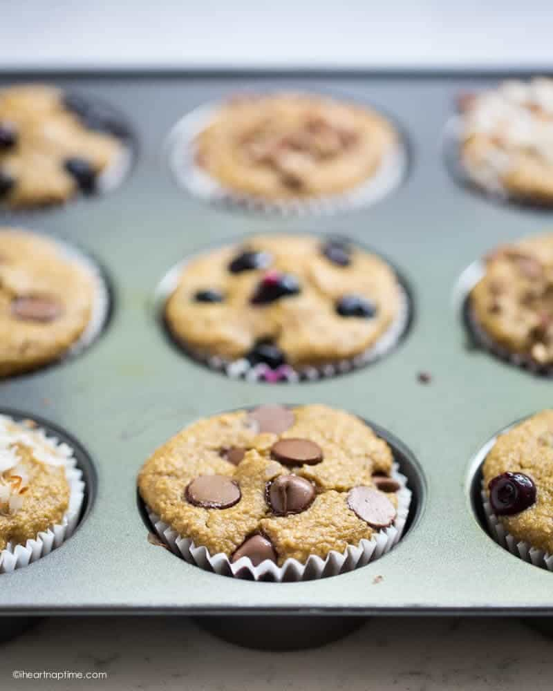 Flourless blender muffins made in less than 20 minutes and are under 100 calories! This recipe is so easy and the muffins taste amazing!
