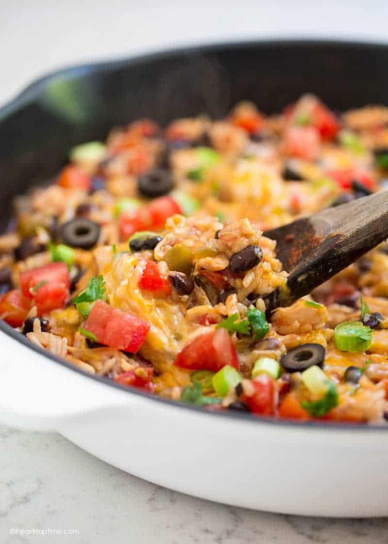 one pot cheesy tex mex