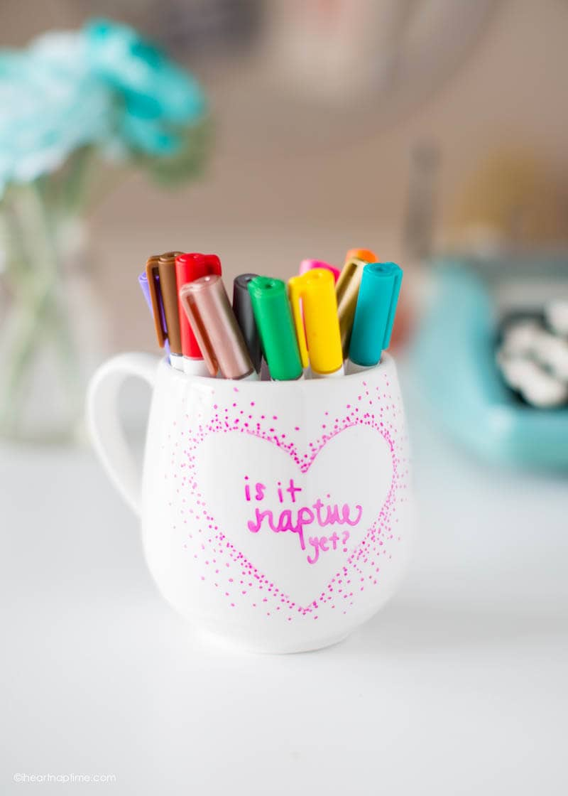 DIY naptime mug - get the instructions at iheartnaptime.com
