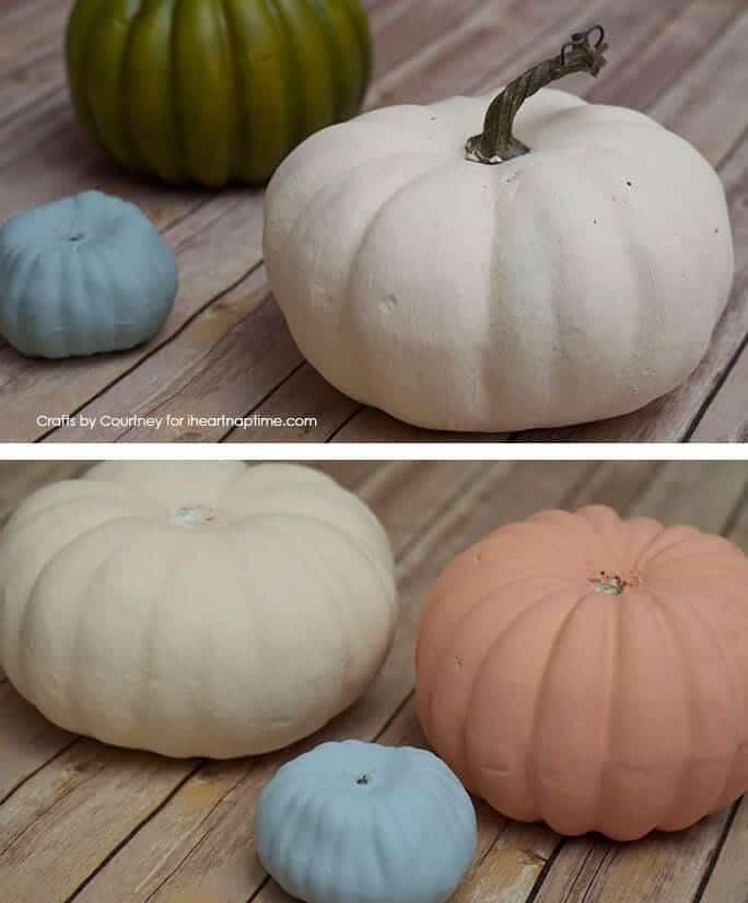 DIY Faux Fall Succulent Pumpkin Craft on iheartnaptime.com
